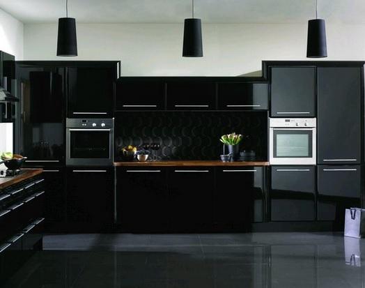 Черная плитка дизайн